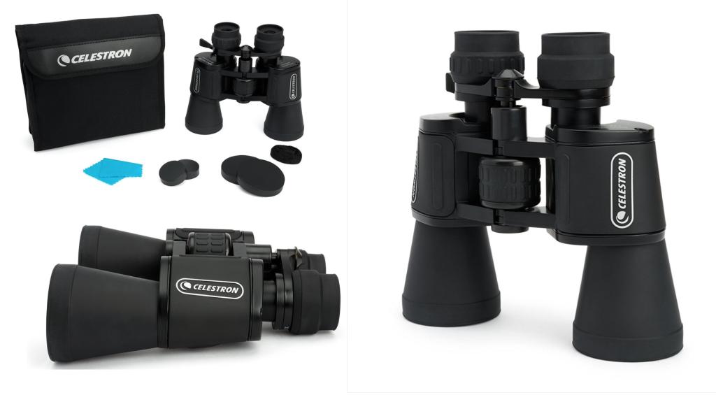 prismáticos Celestron Upclose con zoom 10-30x50