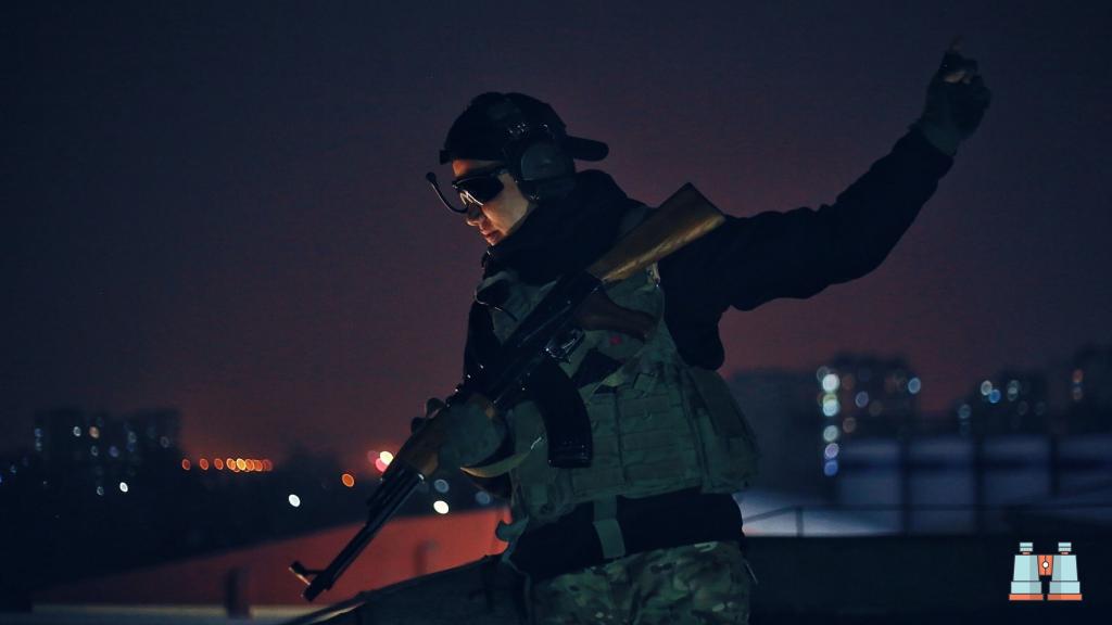 prismaticos militares con visión nocturna