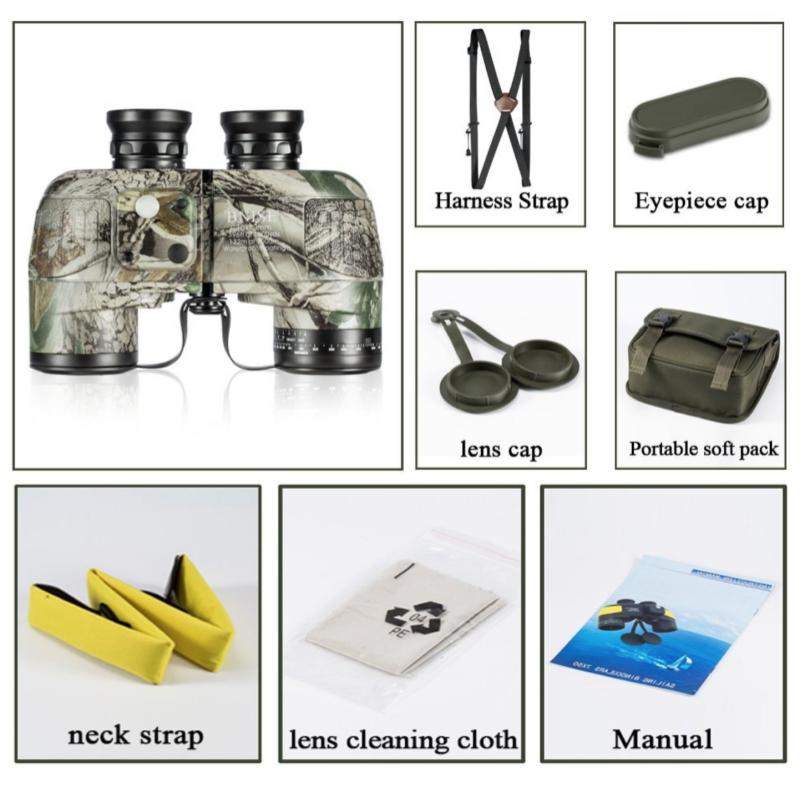 accesorios incluidos prismaticos militares BNISE 10x50